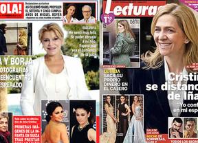 Los Goya, el reencuentro de los Thyssen y la declaración de la Infanta copan las portadas de las revistas del corazón