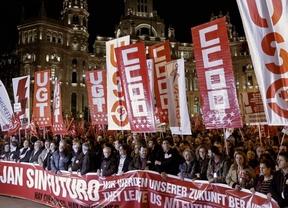 La manifestación del 14-N sí logra el éxito que no alcanzó el seguimiento de la huelga
