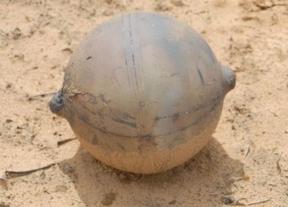 Una bola del espacio cae en Namibia