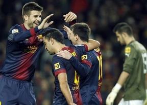El 'Superbarça' despacha al Espanyol en media hora como regalo de Reyes a Vilanova