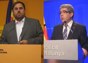 Junqueras apuesta por 'saltarse la legalidad española' y Homs cree que es el Gobierno central 'quien está fuera de la ley'