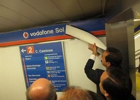 La emblemática estación de Metro de Sol en Madrid, rebautizada como 'Vodafone Sol'