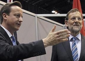 'El d�ficit de Gran Breta�a era mayor que el de Espa�a y se redujo sin subir impuestos', recrimina el ministro brit�nico a Rajoy