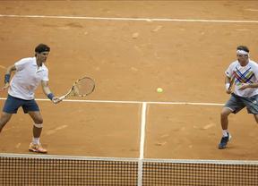 Nadal sigue con sus pruebas y gana el dobles en Sao Paulo con su nueva pareja Nabaldián