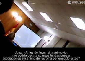 La infanta Cristina fue grabada en un vídeo durante su declaración, el cual acaba publicado en la prensa