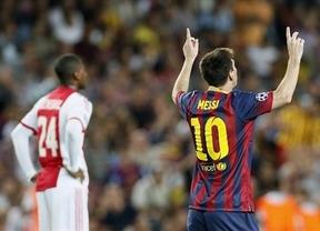 Messi no quiso ser menos que Ronaldo y pulveriza al Ajax con un 'hat-trick' (4-0)
