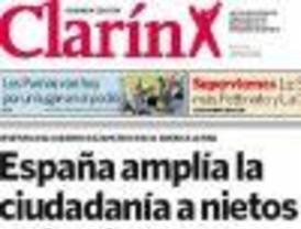 Clarín destaca la ciudadanía para nietos de españoles