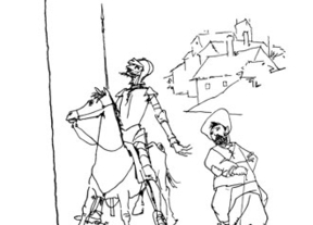 La UCLM expone en la Biblioteca regional 33 dibujos de Don Quijote