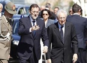 Nueva edición de la cumbre de los países 'pre-rescatados': Rajoy y Monti se rebelan a Europa