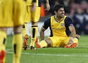 Buenas noticias para el Atleti: Costa no sufre rotura y podría jugar la vuelta