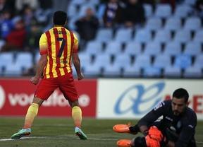 Un triplete de 'SuperPedro' remonta y regala el liderato a un Barça que sufrió en Getafe (2-5)