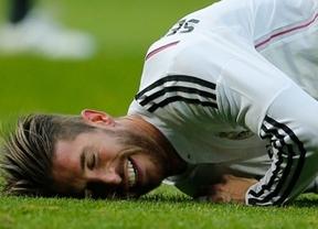 Mucho peor de lo previsto: la lesión de Ramos es más grave y le apartará de los terrenos de juego al menos mes y medio
