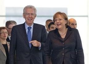 Merkel le da una 'palmadita en la espalda' a Monti por la rapidez en las medidas adoptadas