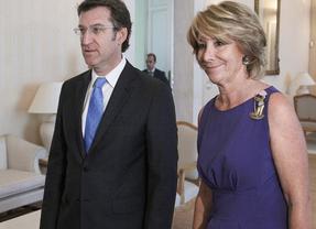 Aguirre se mete en la campaña gallega encumbrando a Feijóo hasta La Moncloa