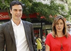 Susana Díaz juega con la ambigüedad en el adelanto electoral y garantiza a Pedro Sánchez todo su apoyo