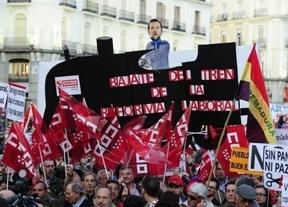 Los sindicatos miden sus fuerzas en la primera manifestación antes de la huelga general
