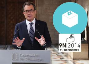 La Generalitat se mofa del Constitucional: promete paralizar la campaña de la consulta, pero mantiene abierta la web promocional