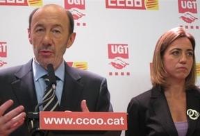 Rubalcaba secunda las palabras de Chacón: una catalana puede liderar el PSOE