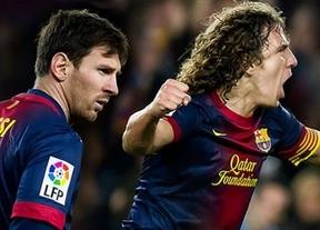 El Barça recupera ante Osasuna a Messi, tres semanas después, y Puyol, ¡siete meses después!