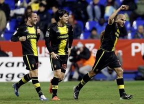 Aranda acerca al Zaragoza a cuartos de final tras imponerse a un Levante muy discreto (0-1)
