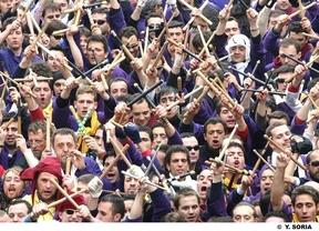 La lluvia provoca la suspensión de la procesión de las 'Turbas' en Cuenca