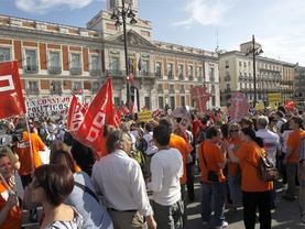 La Comunidad de Madrid quiere limitar las protestas en Sol: 'Hay 3 concentraciones al día'