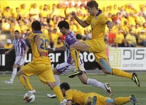 Un solitario gol de Javi Guerra permite a los vallisoletanos coger ventaja (0-1)