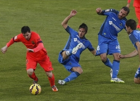 Infranqueable Coliseum: El Getafe frena a un Barça que se aleja del liderato (0-0)