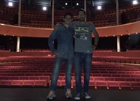 Los actores antes de una representación en el Teatro Circo de Albacete