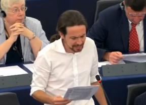 Estreno al rojo vivo: Pablo Iglesias enciende el Europarlamento con su discurso contra la troika y el propio funcionamiento de la cámara