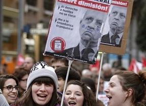 20-N: nuevo pulso estudiantil a la LOMCE bajo el lema '¡Wert dimisión!'