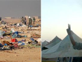 Conflicto en El Aaiún: gases, porras, jaimas incendiadas... Todo destruido