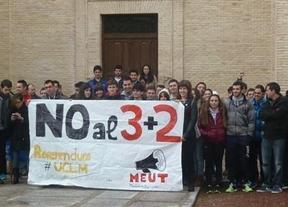 Protestas universitarias contra el 3+2 de Wert en los campus de Castilla-La Mancha