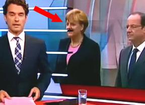 Merkel, con bigote de Hitler: ¿casualidad o error pretencioso?