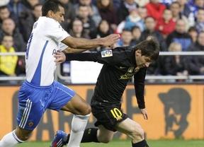 El Barça sale dormido en Zaragoza pero 'Supermessi' lo arregla con un nuevo doblete (1-4)