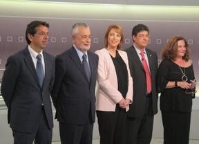 Griñán y Valderas abren el debate en la RTVA 'echando de menos' a Arenas