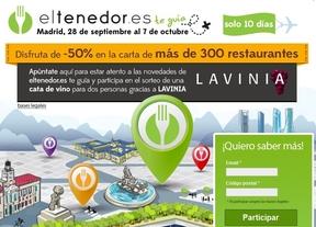 Descuentos de hasta el 50% en más de 300 restaurantes madrileños