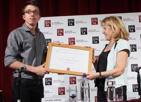 Errejón, con un pie fuera de la Universidad de Málaga, es nombrado profesor honorario en Argentina