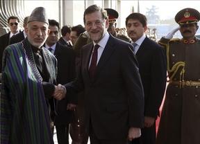 Rajoy anuncia, en su visita oficial a Afganistán, que España se retirará en 2014