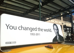 Los taxis neoyorquinos también recuerdan a Steve Jobs