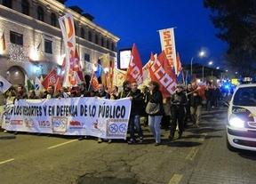 Protestas por la supresión de 1.200 vacantes públicas y contra los presupuestos del Gobierno Cospedal