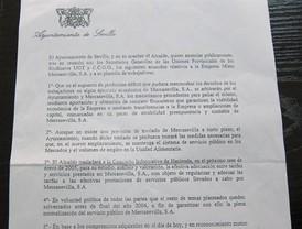 El comité de Mercasevilla esgrime un acuerdo ante el Sercla contra la