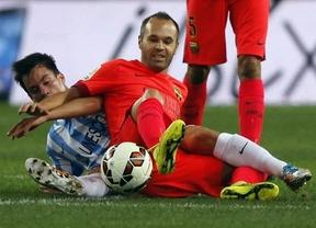 El Barça no dispara y se atasca: empate sin goles en Málaga