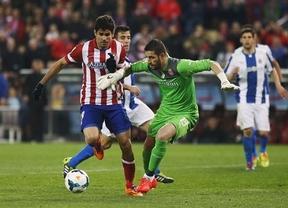 Una estocada de Diego Costa deja los puntos en el Calderón para un Atlético algo espeso ante un Espanyol muy áspero (1-0)
