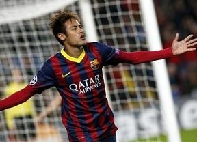 El Barça le hace un set a un Celtic inofensivo con el primer triplete 'europeo' de Neymar (6-1)