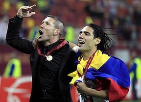 El Atleti se va poniendo la venda: Simeone dice que 'si se va Falcao vendrá alguien competitivo'