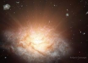 La NASA descubre la galaxia más luminosa: brilla como 300 billones de soles