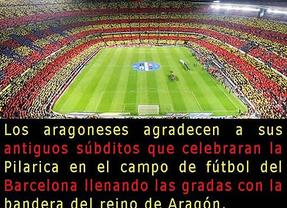 Aragón agradece a su 'súbdito' catalán el uso de su bandera