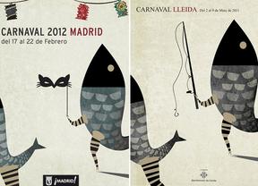 Otro cartel de 'gloria' para Madrid: el de Carnavales copia a otro de Lleida similar