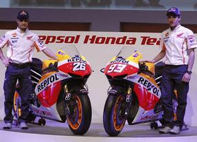 Dani Pedrosa y Marc Márquez presentan las motos de Repsol Honda para la próxima temporada